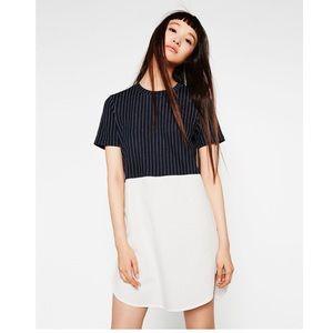 ZARA navy stripe top shirt dress